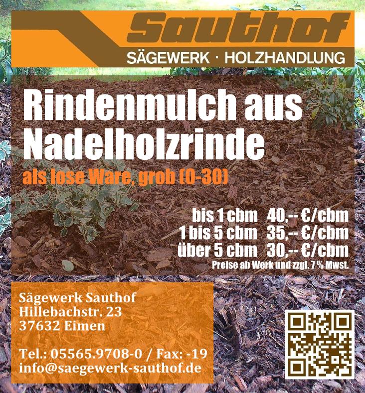 Anzeige Rindenmulch